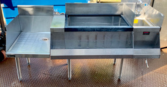 Used Perlick Ice bin/Cocktail station with hand sink