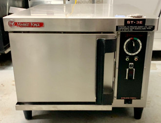"""Convection Steamer, electric, countertop, steam generator, (1) compartment, (3) 12"""" x 20"""" pan capacity, electromechanical timer controls, three way power switch (ON/OFF/Delime), split water connections, automatic fill & drain operation, automatic generator blow down valve, includes water filter system, stainless steel interior & exterior, 7.5 kW, cCSAus, NSF"""