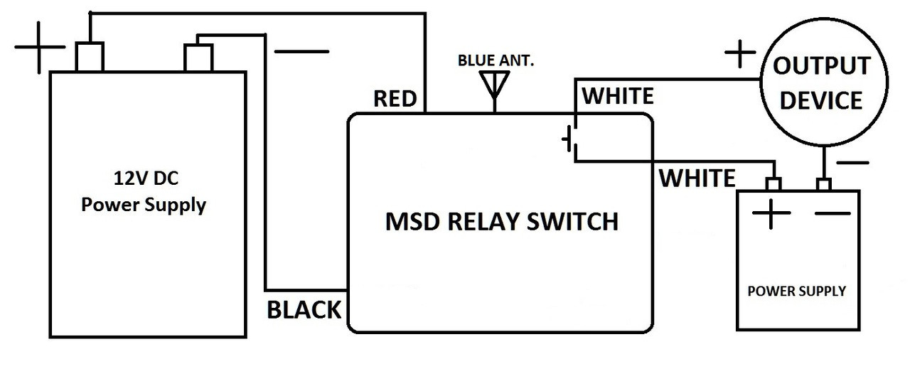 MSD 12V dry contact on off relay switch with 1 long range remote control