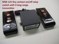 MSD 12V DC dry contact on off relay switch & 2 long range remote control