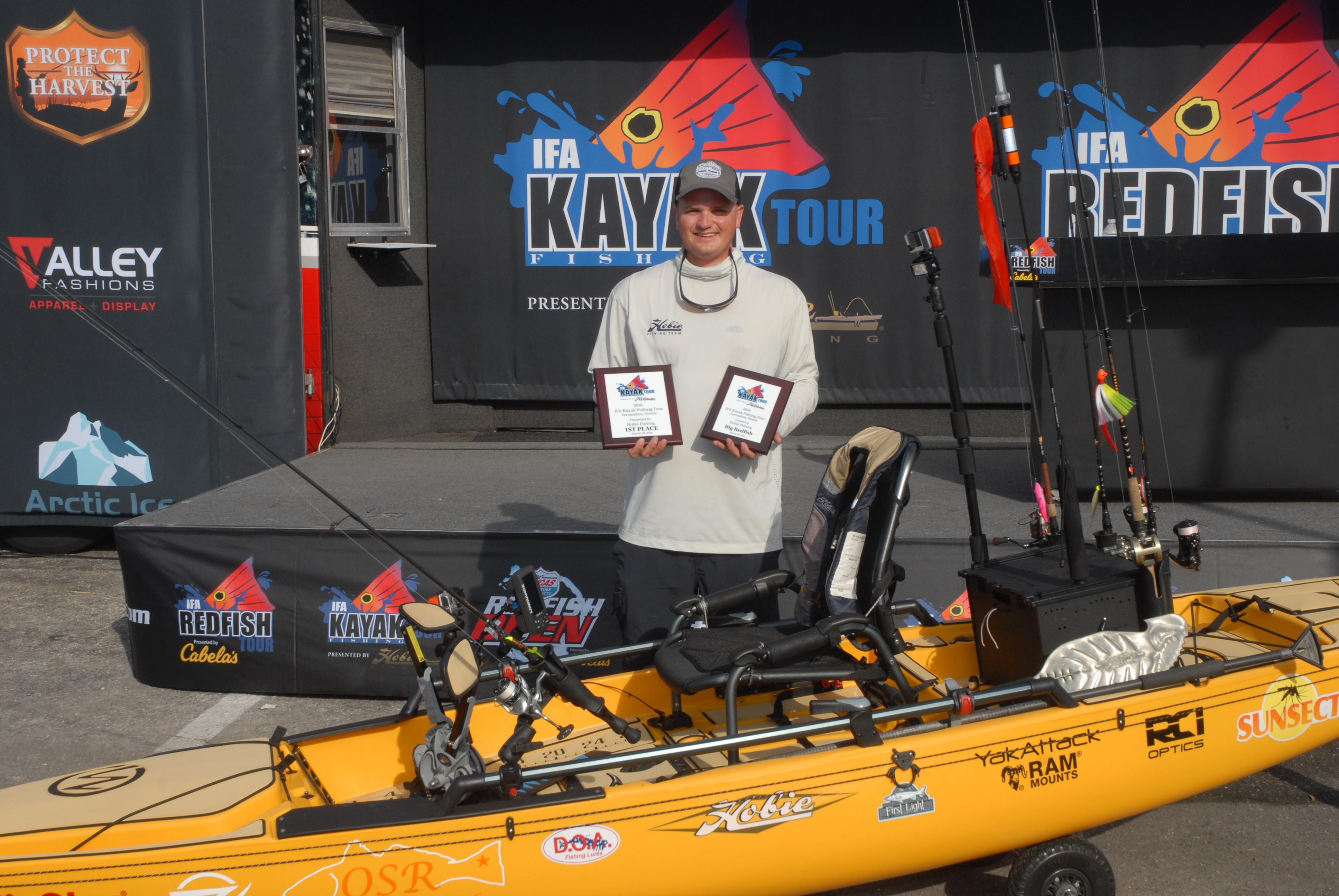 YakAttack Kayak Fishing Thad Day IFA Kayak Tour Big Redfish Hobie Pro Angler