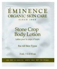 Eminence Stone Crop Body Lotion Trial Sample