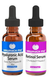 HAWRYCH MD 2.5% Retinol and Hyaluronic Acid Serum Set
