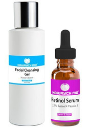 Hawrych MD 2.5% Retinol Serum Facial Cleansing Gel Set