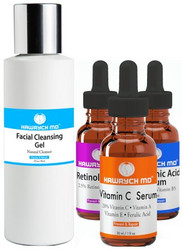 Hawrych MD 20% Vitamin C Retinol Hyaluronic Acid Facial Cleansing Gel Set