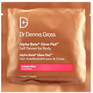 Dr Gross Skincare Alpha Beta Glow Pad Self-Tanner for Body - Intense Glow - 1 Application