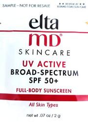 EltaMD UV Active SPF Broad Spectrum  50+ Trial Sample