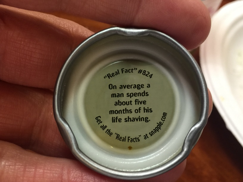 Snapple Real Fact #824