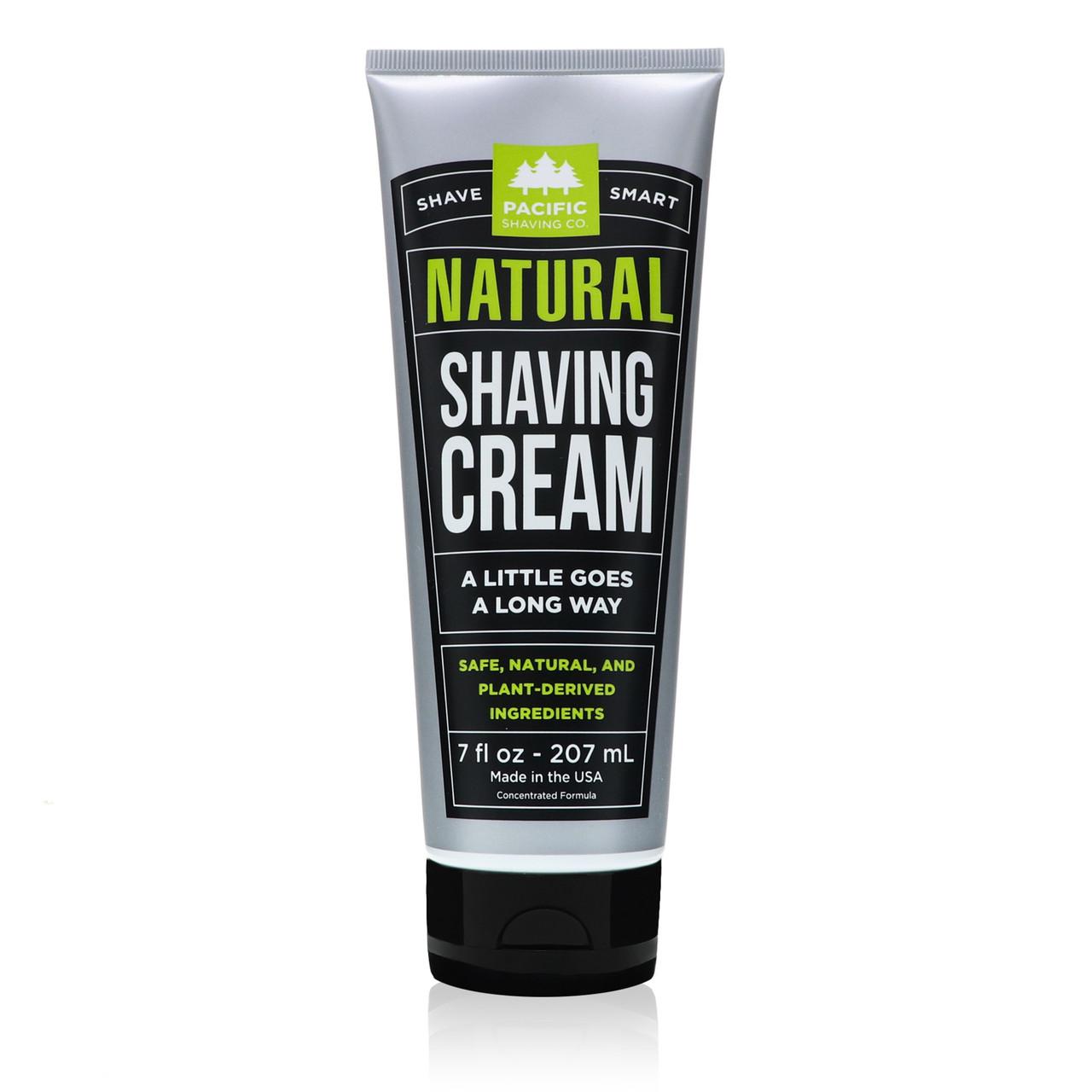 Natural Shaving Cream by Pacific Shaving Company.