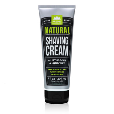 Natural Shaving Cream by Pacific Shaving Company.