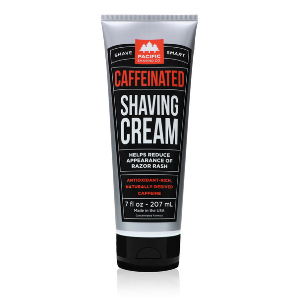 Caffeinated Shaving Cream by Pacific Shaving Company.