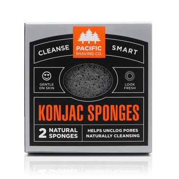 Konjac Sponge 2pk, by Pacific Shaving Company