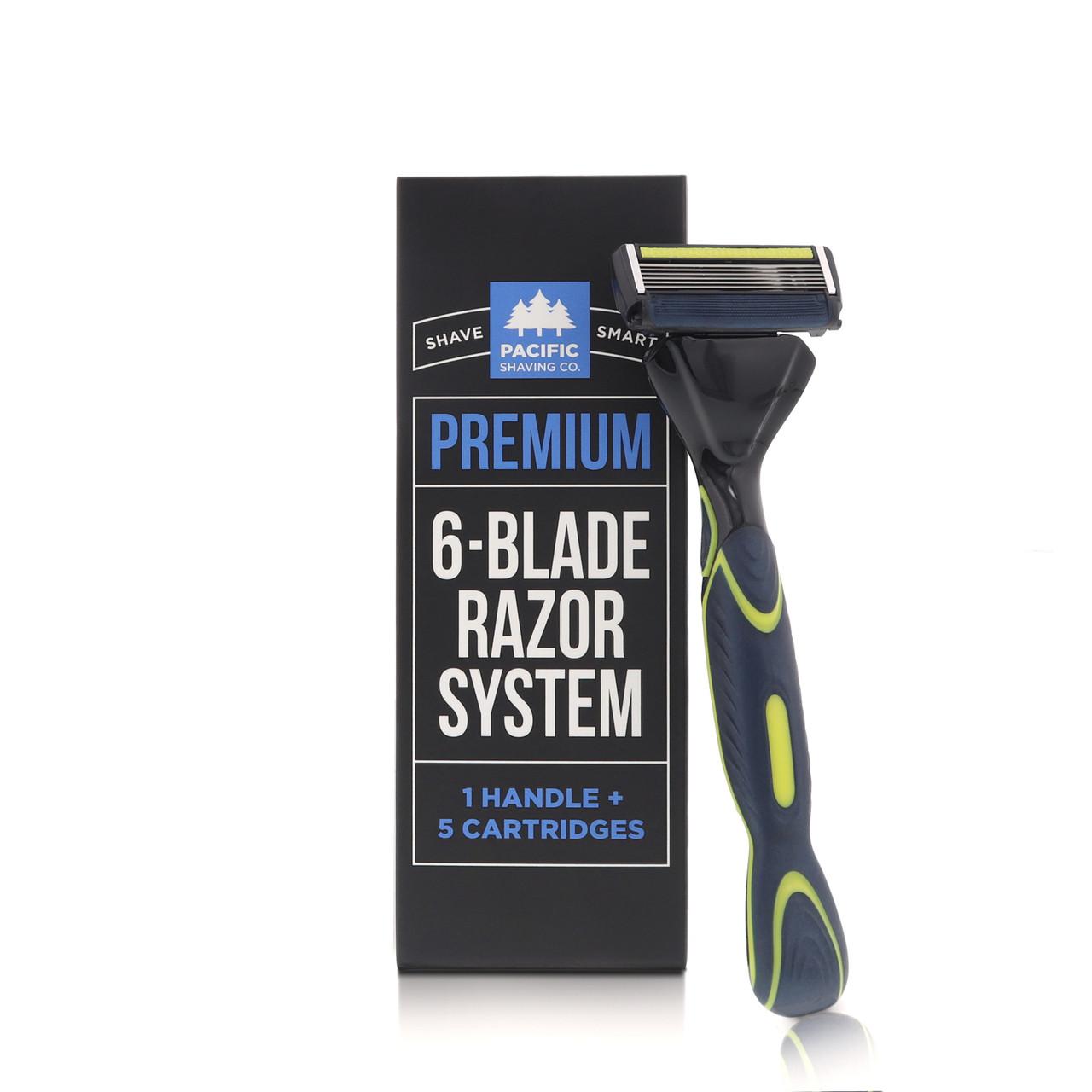 Premium 6-Blade Razor System