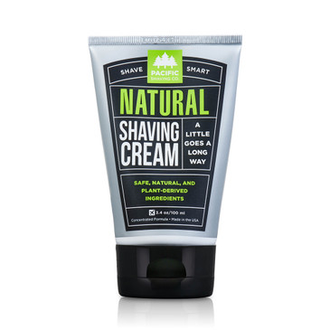 Natural Shaving Cream by Pacific Shaving Company. With natural and certified organic ingredients, our unique, low-lather formula is about to become your skin's best friend.