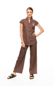 Hemp Tunic and Hemp Pants in cinnamon