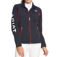 Ariat New Team Softshell Jacket, Navy Full Zip
