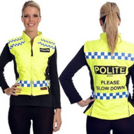 Equisafety Polite Quilted Gilet Please Slow Down