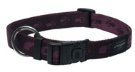 Rogz Alpinist Extra Large 25mm Everest Dog Collar, Purple Rogz Design(HB27-E)