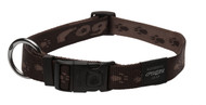 Rogz Alpinist Extra Large 25mm Everest Dog Collar, Chocolate Rogz Design(HB27-J)