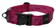 Rogz Alpinist Extra Extra Large 40mm Big Foot Dog Collar, Pink Rogz Design(HB29-K)