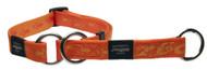 Rogz Alpinist Medium 16mm Matterhorn Web Half-Check Dog Collar, Orange Rogz Design(HBC23-D)