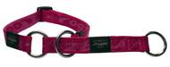 Rogz Alpinist Large 20mm K2 Web Half-Check Dog Collar, Pink Rogz Design(HBC25-K)