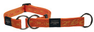 Rogz Alpinist Extra Large 25mm Everest Web Half-Check Dog Collar, Orange Rogz Design(HBC27-D)