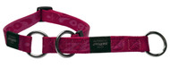 Rogz Alpinist Extra Large 25mm Everest Web Half-Check Dog Collar, Pink Rogz Design(HBC27-K)