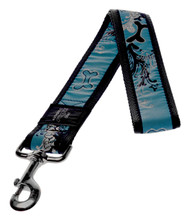 Rogz Fancy Dress Extra Extra Large 40mm Special Agent Fixed Dog Lead, Turquoise Chrome Design(HL04-BK)
