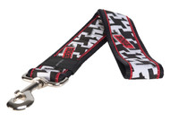 Rogz Fancy Dress Extra Extra Large 40mm Special Agent Fixed Dog Lead, Houndstooth Design(HL04-BV)