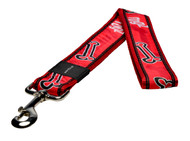 Rogz Fancy Dress Extra Extra Large 40mm Special Agent Fixed Dog Lead, Red Rogz Bone Design(HL04-CC)