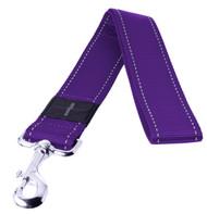 Rogz Utility Extra Extra Large 40mm Landing Strip Fixed Dog Lead, Purple Reflective(HL19-E)