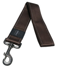 Rogz Utility Extra Extra Large 40mm Landing Strip Fixed Dog Lead, Chocolate Reflective(HL19-J)