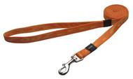 Rogz Alpinist Medium 16mm Matterhorn Fixed Dog Lead, Orange Rogz Design(HL23-D)