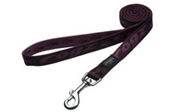 Rogz Alpinist Large 20mm K2 Fixed Dog Lead, Purple Rogz Design(HL25-E)