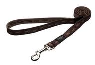 Rogz Alpinist Large 20mm K2 Fixed Dog Lead, Chocolate Rogz Design(HL25-J)