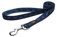 Rogz Alpinist Extra Large 25mm Everest Fixed Dog Lead, Blue Rogz Design(HL27-B)