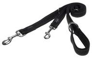 Rogz Utility Large 20mm Fanbelt Multi-Purpose Dog Lead, Black Reflective(HLM06-A)