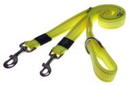 Rogz Utility Large 20mm Fanbelt Multi-Purpose Dog Lead, Dayglo Yellow Reflective(HLM06-H)