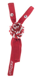 Rogz Cowboyz Dog Knot Chew Toy Red