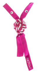 Rogz Cowboyz Dog Knot Chew Toy  Pink