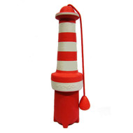 Rogz Lighthouse Large 250mm Dog Fetch Toy, Red and White