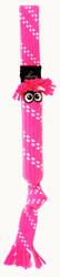 Rogz Scrubz Teeth Cleaning Dog Toy, Pink
