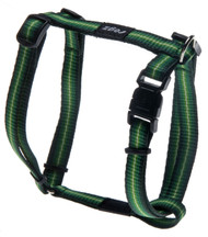 Rogz Pavement Special Small 11m Midget Dog H-Harness, Green Design