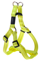 Rogz Utility Large 20mm Fanbelt Step-in Dog Harness, Dayglo Yellow Reflective