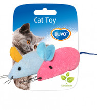 Duvo Cat Toy Mice Blue & Pink 2pcs