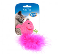 Duvo Cat Toy Wool Mouse with Feather Tail