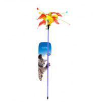 Duvo Cat Toy Playing Rod With Feathers
