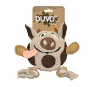 Duvo Dog Toy Canvas Plush Cow