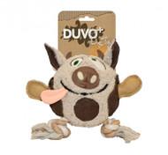 Duvo Dog Toy Canvas Plush Cow
